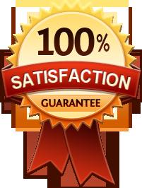 100% satisfaction guarantee icon